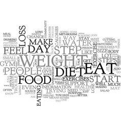 a beginner s guide to weight loss steps text word vector image