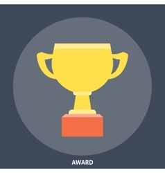 Award cup icon flat vector