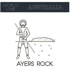 Ayers rock Australia vector image vector image