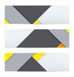 Banner of modern material design vector image