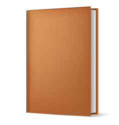 Classic brown book in front vertical view vector