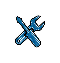 Construction tools crossed vector