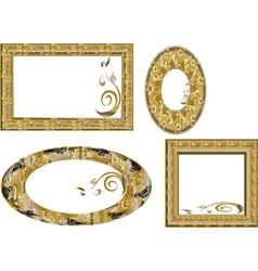 fantasy gold frames vector image vector image