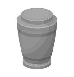 Funeral urns icon in monochrome style isolated on vector