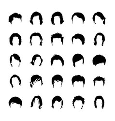 Glyph icon designs of hair vector