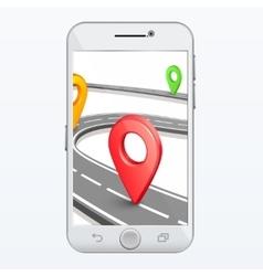 GPS smartphone app vector image