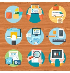 Internet shopping process of purchasing and vector