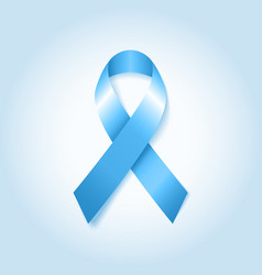 Light blue awareness ribbon vector