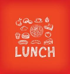 Lunch menu restaurant design vector image vector image
