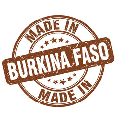 Made in burkina faso vector