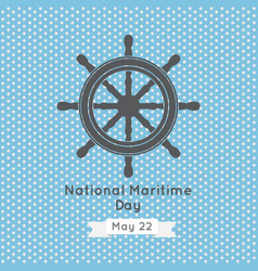 National maritime day design vector