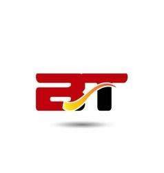 Number 21 swoosh design template logo vector image