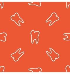 Orange tooth pattern vector