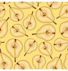 pear half pattern vector image vector image