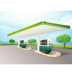 Petrol Station vector image