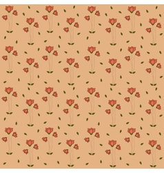 Poppy flowers pattern seamless pattern on coral vector