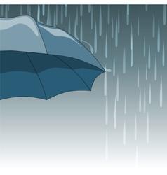 Rain drops and umbrella vector