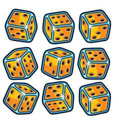 Set of dice vector image vector image