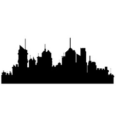 Silhouette city buildings skyscraper town vector