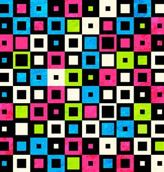 square neon seamless pattern vector image