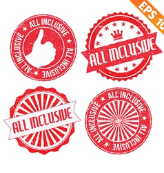 Stamp sticker All Inclusive collection - - vector image
