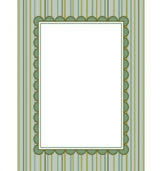 striped background with frame vector image