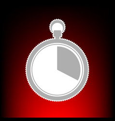 The 20 seconds minutes stopwatch sign postage vector