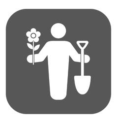 The gardener avatar icon Gardening and vector image