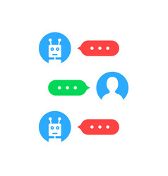 User interface like chatting with chat bot vector
