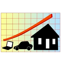 value increase chart vector image vector image