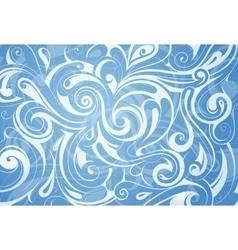 Water swirls ornament vector image vector image