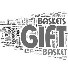 Why gift gift basket text word cloud concept vector