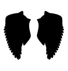 wing the black color icon vector image vector image