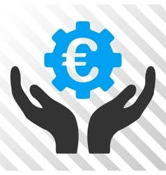Euro maintenance hands icon vector