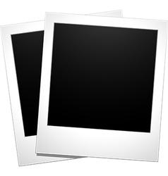 Blank polaroid snaps vector