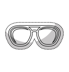 Eye glasses style icon vector