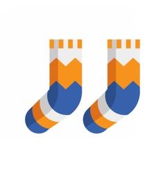 Winter wool socks icon vector