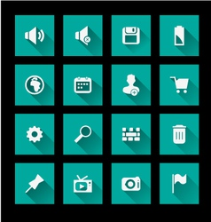 Media Icon set 2 vector image