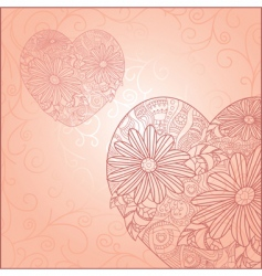 Cute valentine's day card vector