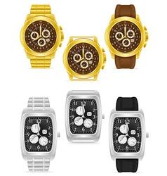 wristwatch 09 vector image