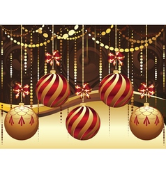 Decorative gold xmas balls5 vector