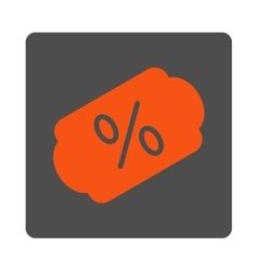Discount label rounded square button vector