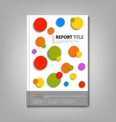 Brochures book or flyer with colored abstract vector