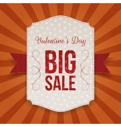 Valentines day poster design template vector