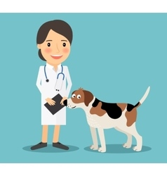 Female veterinarian doctor vector