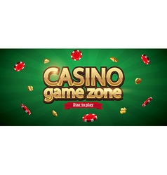 Casino chips realistic theme with place for text vector