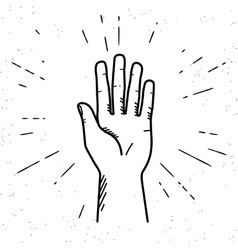 Human hand giving a high five vector