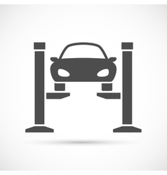 Car lifting icon vector