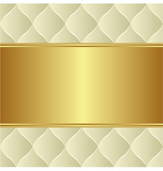 creamy gold background vector image