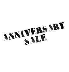 Anniversary sale rubber stamp vector